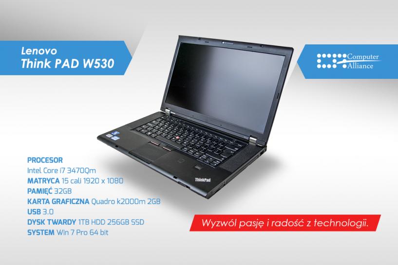 Lenovo ThinkPad W530 - konfiguracja